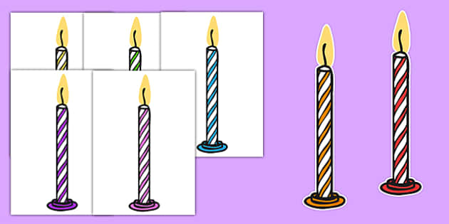 Editable A4 Multicoloured Candles Stripes - editable, image, editable image, striped candles, candles, candles for display, display candles, striped display candles, editable picture, editable display image, display, display picture