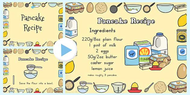 Pancake Recipe PowerPoint - australia, pancake recipe, powerpoint