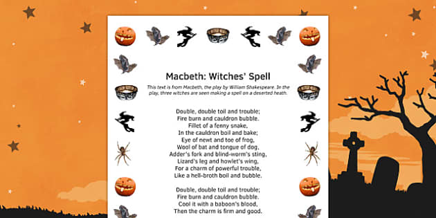 Macbeth Witches Spell Macbeth Witches Spell Ks3 English