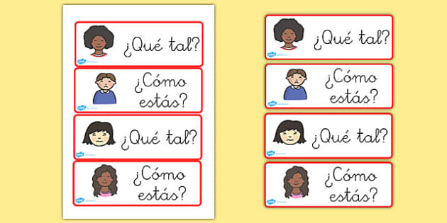 Spanish How Are You? Question Cards - card, visual, aids, Spain, questions