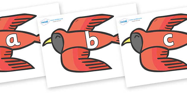 Phase 2 Phonemes on Red Bird to Support Teaching on Brown Bear, Brown Bear - Phonemes, phoneme, Phase 2, Phase two, Foundation, Literacy, Letters and Sounds, DfES, display