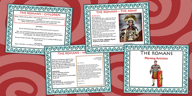 1 Week Romans Topic Morning Activities UKS2 - roman, activity