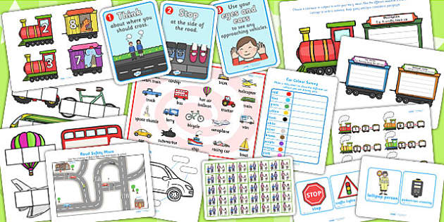 KS1 Transport Lesson Plan Ideas and Resources Pack - transport
