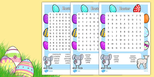 Easter Wordsearch - easter, wordsearch, word games, keywords
