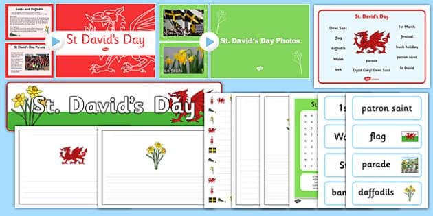 St Davids Day Resource Pack - celebrate, David, celebrations