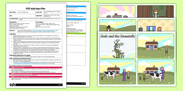 Jack and the Beanstalk Hot Seating Activity EYFS Adult Input Plan and Resource Pack - EYFS planning, Early years activities, Adult led, Traditional tales