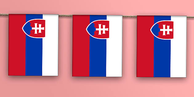 Slovakia Flag Bunting - flag, world, country, countries, Europe, display, Olympics, Rio, 2016, celebrate, event