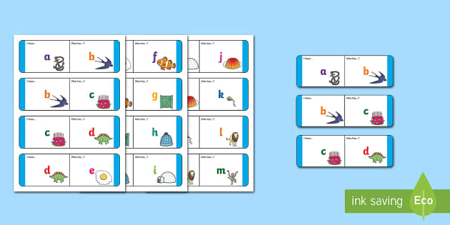 Alphabet Lower Case Loop Cards - English,Literacy, Loop Cards,Australia, initial sound, letter, sound