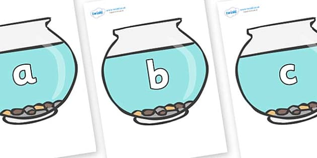 Phase 2 Phonemes on Fish Bowls - Phonemes, phoneme, Phase 2, Phase two, Foundation, Literacy, Letters and Sounds, DfES, display