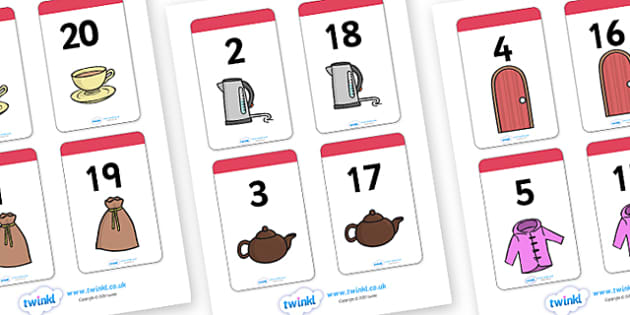 Number Bonds to 20 Matching Cards (Everyday Items) -  Number Bonds, Matching Cards, Number Bonds to 20