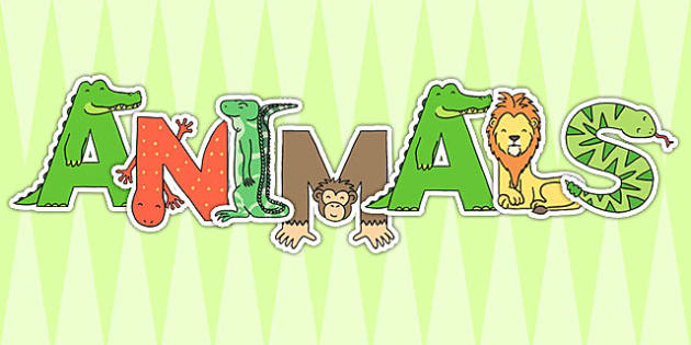 Animals Display Letters - animal, alphabet, display letters, display