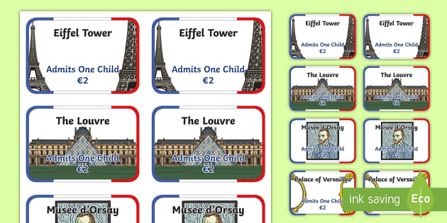 Paris Tourist Attraction Tickets - paris, tourist attracton, tickets, paris tickets, role play ticket, tourist attraction tickets, paris tourist attraction