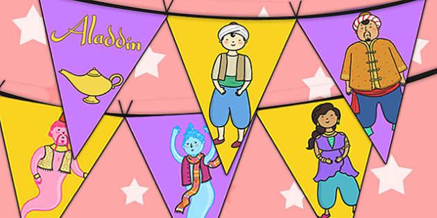 Aladdin Bunting - aladdin, bunting, display, aladdin display