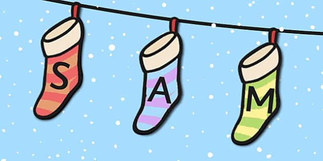 Editable Name Building Stocking  Activity - Name Writing