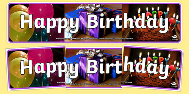 Happy Birthday Photo Display Banner - happy birthday, photo display banner, photo banner, display banner, banner,  banner for display, display photo, display