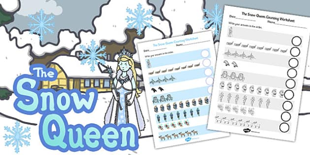 The Snow Queen Counting Sheet - Snow, Queen, Counting sheet