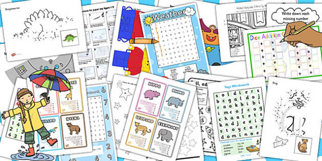 KS1 Rainy Day Activity Pack - rainy, day, activity, pack, ks1