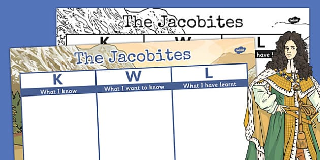 The Jacobites KWL Grid - jacobites, kwl, grid, know, research