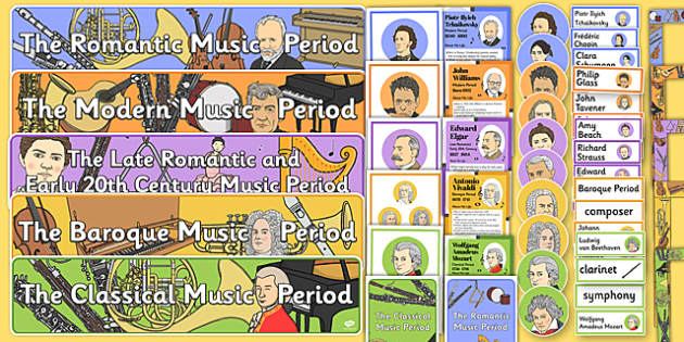 Musical Periods Display Pack - musical periods, display pack