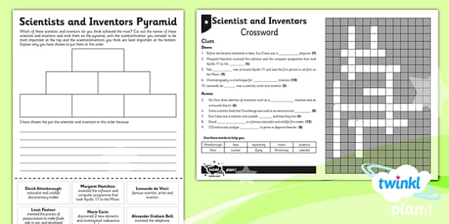 PlanIt - Science Year 5 - Scientists and Inventors Unit Home Learning Tasks - planit, science, year 5, scientists and inventors, home learning tasks