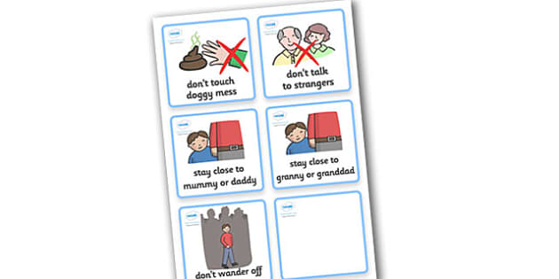 SEN Communication Cards Hazards (Boy) - SEN, communication cards, hazards, my environment, Visual Timetable, SEN, Daily Timetable, boys, School Day, Daily Activities, Daily Routine KS1