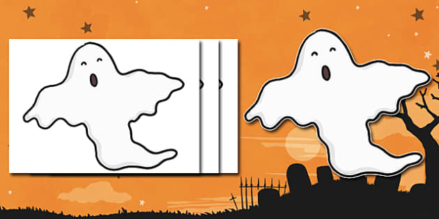 Blank Ghost Cut Outs - ghost, cut outs, halloween, scary, display