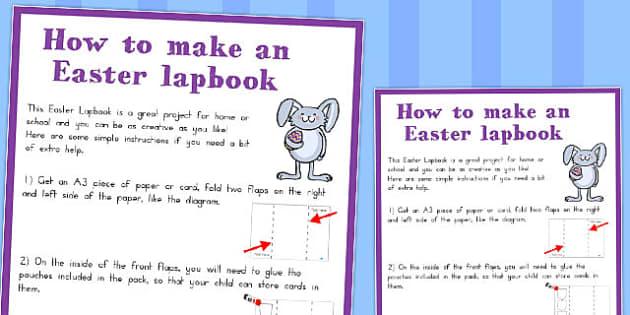 Easter Lapbook Instructions - australia, easter, book instruction