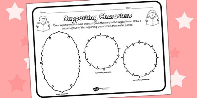 Supporting Character Reading Comprehension Activity - supporting character, comprehension, comprehension worksheet, character, discussion prompt, class discussion