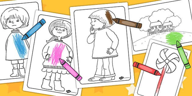 Colouring Sheets to Support Teaching on Titch - colour in, colouring, fine motor skills
