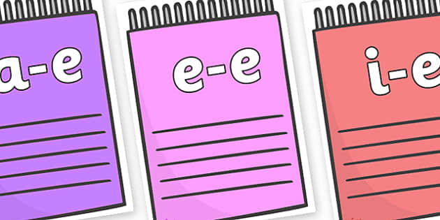 Modifying E Letters on Notepads - Modifying E, letters, modify, Phase 5, Phase five, alternative spellings for phonemes, DfES letters and Sounds