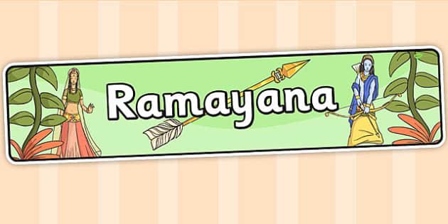 Ramayana Display Banner - hinduism, hindu, india, poems, poetry