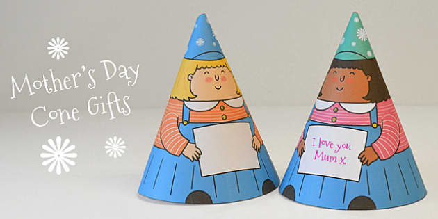 Mother's Day Cone Girl Gift - mothers day, mum, gifts, presents, cone