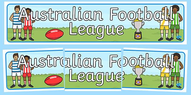 Australian Football League Display Banner - header, AFL, sport