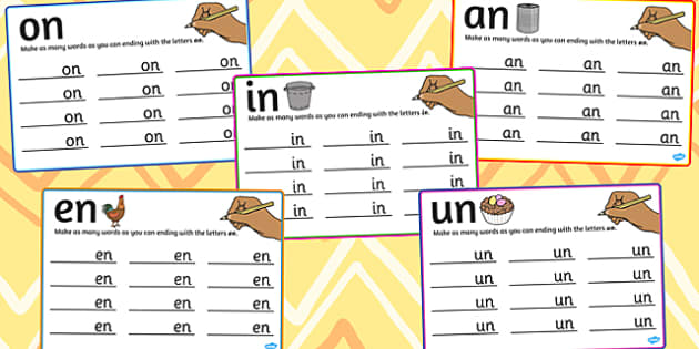 n Rime Mats - rime, cards, rhyme, words, activity, word, card, n