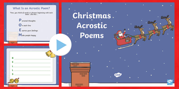 Christmas Acrostic Poem PowerPoint
