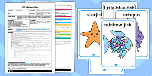 Movement Activity EYFS Adult Input Plan and Resource Pack to Support Teaching on The Rainbow Fish