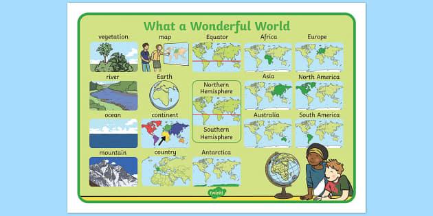 What a Wonderful World Word Mat - word mat, wonderful, world