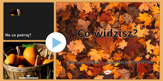 Co widzisz? Jesienna zabawa PowePoint po polskush