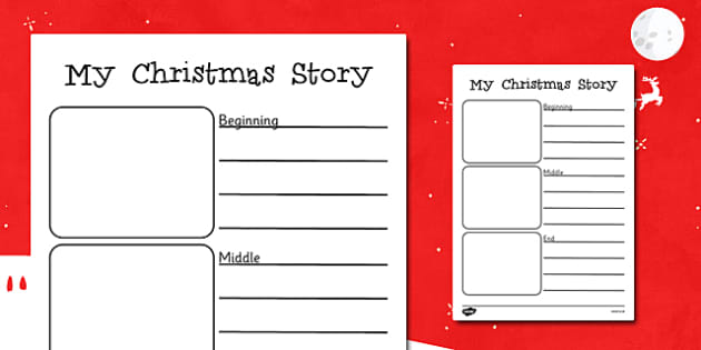 My Christmas Story Writing Frames - my christmas story, christmas, writing frames, writing aid, writing guides, writing templates, line guides, guides