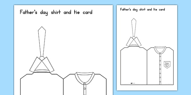 Fathers Day Shirt And Tie Card - cards, gifts, presents, dad