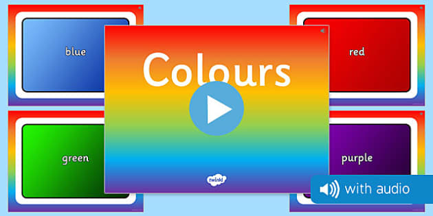 Colours Audio Flashcards - sound, spoken, auditory, colours, primary, early years, primary, secondary,