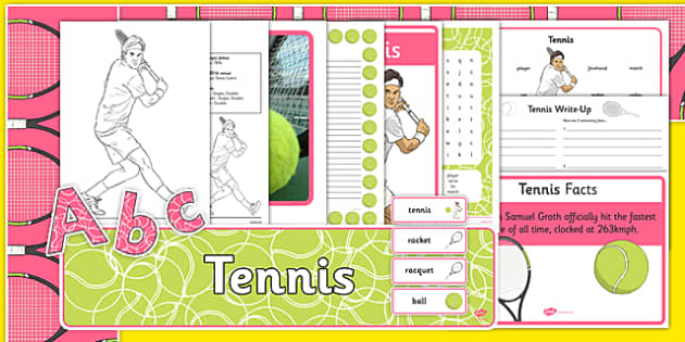 The Olympics Tennis Resource Pack - Tennis, Olympics, Olympic Games, sports, Olympic, London, 2012, resource pack, pack resources, activity, Olympic torch, events, flag, countries, medal, Olympic Rings, mascots, flame, compete