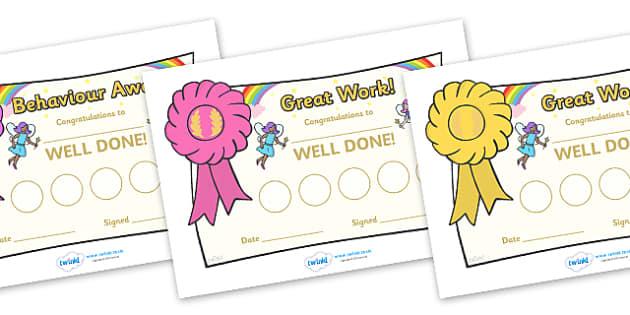 Fairy Sticker Reward Certificates (30mm) - Fairy Reward Certificate (30mm), Fairy, reward certificate, certificate, reward, 30mm, 30 mm, stickers, twinkl stickers, award, certificate, well done, behaviour management, behaviour, fairies, fantasy, wand
