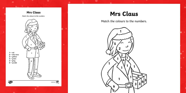 Mrs Claus Colour by Number - M&S Christmas, Marks, Spencers, Advert, Mrs Christmas, Mrs Claus