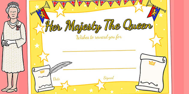 Queen's Birthday Certificates - awards, rewards, royal family