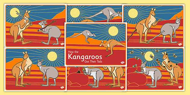 Aboriginal Dreamtime How the Kangaroos Got Their Tails Short Story Sequencing - australia, aboriginal, dreamtime, how the kangaroos got their tails, story, sequencing