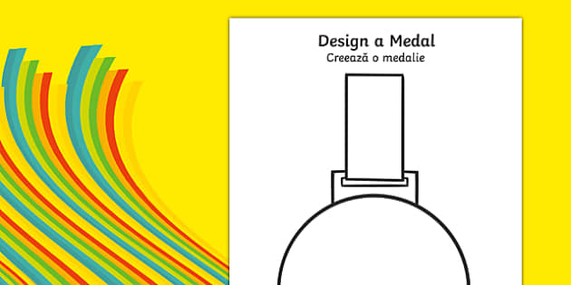 Design a Medal Romanian Translation - romanian, Olympics, Olympic Games, sports, Olympic, London, 2012, design, draw, create, design your own medal, Olympic torch, flag, countries, medal, Olympic Rings, mascots, flame, compete, tennis, athlete, swimm