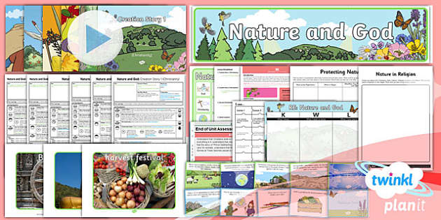 PlanIt - RE Year 2 - Nature and God Unit Pack - planit, re, religious education, nature and god, unit pack