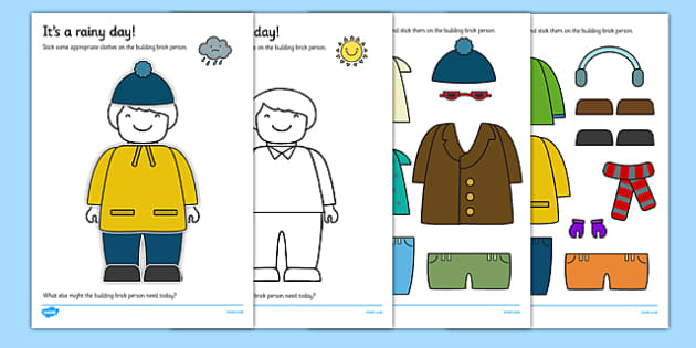 Dress the Person for the Weather Cut Out Activity - weather