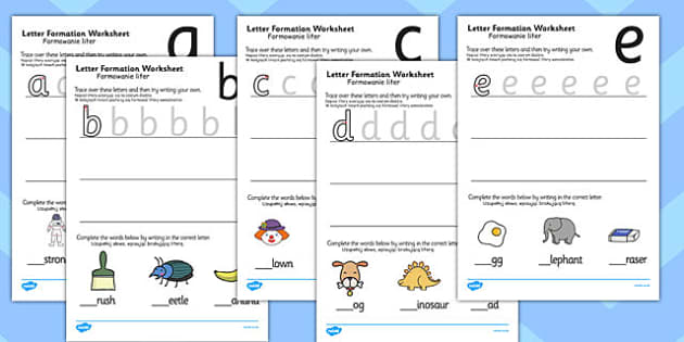 Letter Formation Worksheets Polish Translation - writing, english, fine motor skills, presentation, KS1, key stage 1
